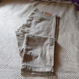 Khaki Colored  - Levi 501Twill jeans